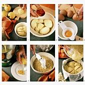Making Italian apple cake