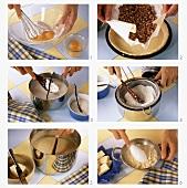 Making coconut tart