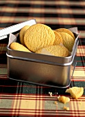 Shortbread in a metal box
