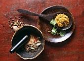 Ras el hanout & chermoula (Spice mixture & spice paste, Morocco)