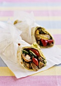 Wrap with Mediterranean vegetables