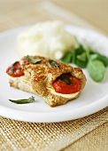 Involtini di vitello (Veal rolls with mozzarella & tomato)