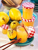 Quince jelly in preserving jar