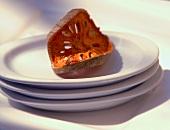 Eine Scheibe getrocknete Bael-Frucht