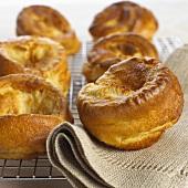 Yorkshire puddings on cake rack