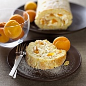Apricot and almond roulade