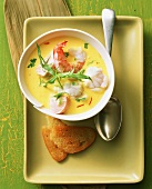 Fish and seafood soup with fennel and saffron