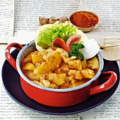Hungarian potato paprikash