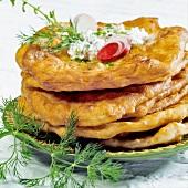 Langos (Hungarian flatbread)