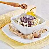 Poppy seed noodles with honey