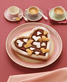 Heart-shaped Linzer cake