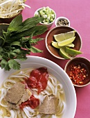 Pho Bo (rice noodle soup with beef, Vietnam)