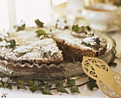 Nut cake with ivy leaves