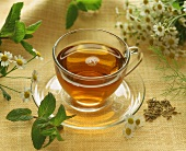 A cup of herb tea