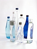 Various mineral water bottles