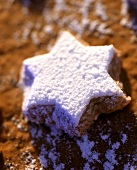 Star biscuit with icing sugar