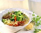 Minestrone con le lenticchie (Vegetable soup with lentils)