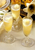 Sorbet au champagne (champagne sorbet from France)