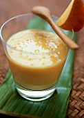 Mango lassi (Indian mango and yoghurt drink)