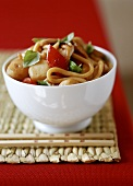 Asian noodle & vegetable stir-fry with chicken & water chestnuts
