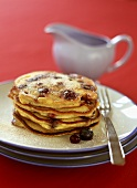 Blueberry pancakes with cinnamon and sugar