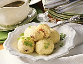 Saxon Wickelklösse (potato dumplings with bacon filling)