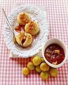 Sweet quark & potato dumplings with berry & mirabelle jam