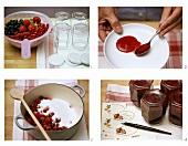 Making mixed berry jam