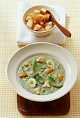 Herb soup with toasted croutons (S. Germany)