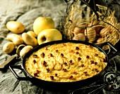 Potato and apple gratin