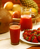 Jugo de fresa (strawberry juice, Colombia)
