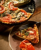 Tomato quiche with parsley
