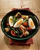 Salade niçoise (salad with anchovies and egg, Côte d'Azur)