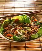 Bo bun (beef with peanuts and rice noodles, Vietnam)