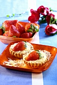 Strawberry tartlets with vanilla cream & white chocolate