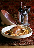 Dikaya utka s risom (wild duck with rice, Turkmenistan)