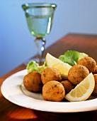 Bolinhos de bacalhau (deep-fried cod balls, Portugal)