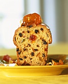 Spice cake with candied fruit and raisins