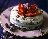 Macarons à la violette de Toulouse (violet macaroons)