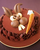 Easter cake with chocolate mousse