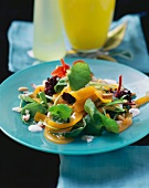 Salad with jelly noodles