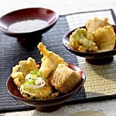 Fish and vegetable tempura