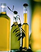 Several bottles of olive oil