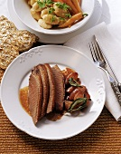 Roast goose with shallots