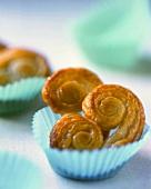 Mini 'pig's ear' pastries