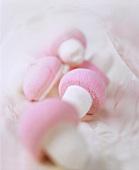 Coloured foam mushrooms