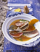Bouillabaisse (fish soup, Provence, South of France)