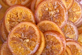 Several slices of orange (filling the picture)