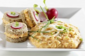 Obatzter (Bavarian cheese spread) with snacks & radishes