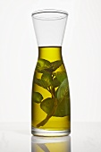 Mint oil in a carafe